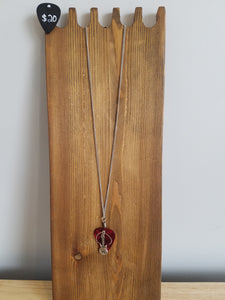 Retuned Guitar Pick and Guitar Necklace