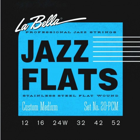 La Bella Jazz Flat Guitar Strings - Custom Medium 12-52