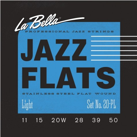 La Bella Jazz Flat Guitar Strings - Light 11-50