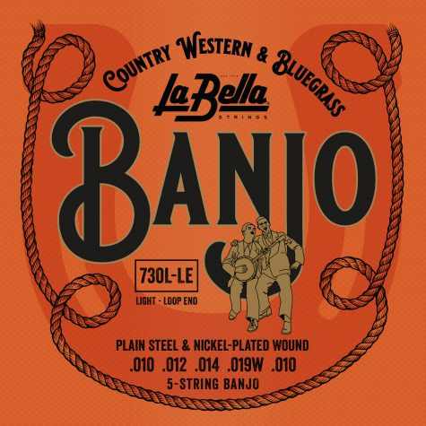 La Bella 5-String Banjo Strings - Light, Loop End