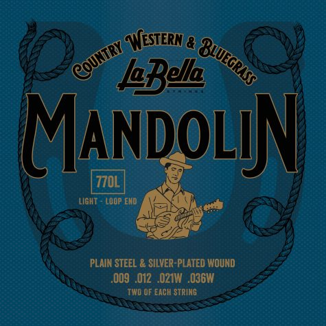 La Bella Mandolin Strings - Light, Silver Plated