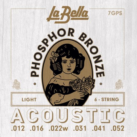 La Bella Phosphor Bronze Acoustic Guitar Strings - Light 12-52