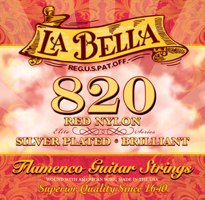 La Bella 820 Elite Flamenco Guitar Strings - Red Nylon