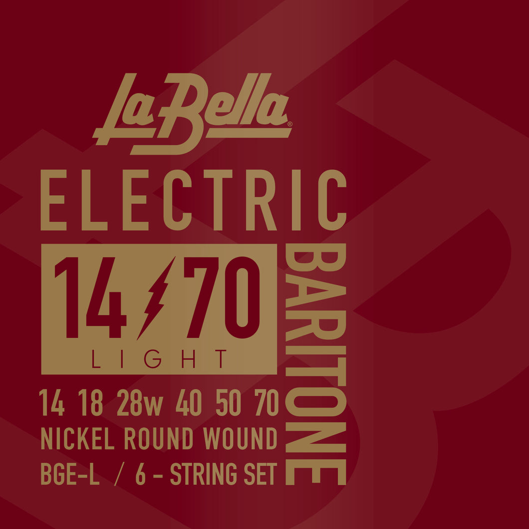 La Bella Nickel Electric Baritone Guitar Strings - Light 14-70