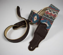 Load image into Gallery viewer, Franklin Old Aztec Canvas Guitar Strap