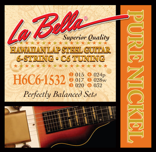 La Bella Hawaiian Lap Steel Strings - 6-String, C6 Tuning