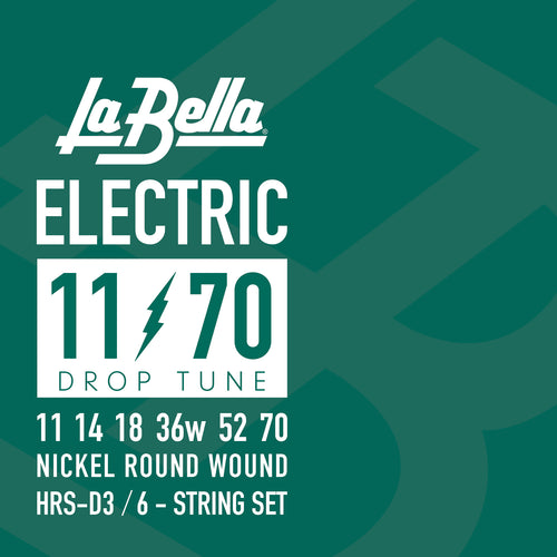La Bella Drop Tune Electric Guitar Strings - 11-70