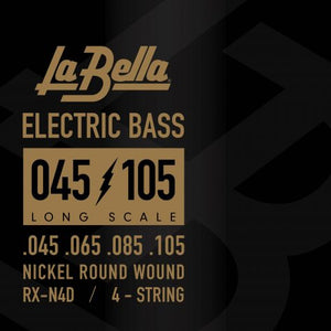 La Bella Nickel Round Wound Bass Guitar Strings - 45-105