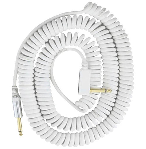 VOX 29.5' Coiled Instrument Cable - White