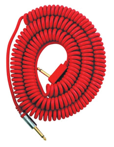 VOX 29.5' Coiled Instrument Cable - Red