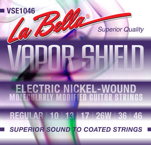 La Bella Vapor Shield Electric Guitar Strings 10-46
