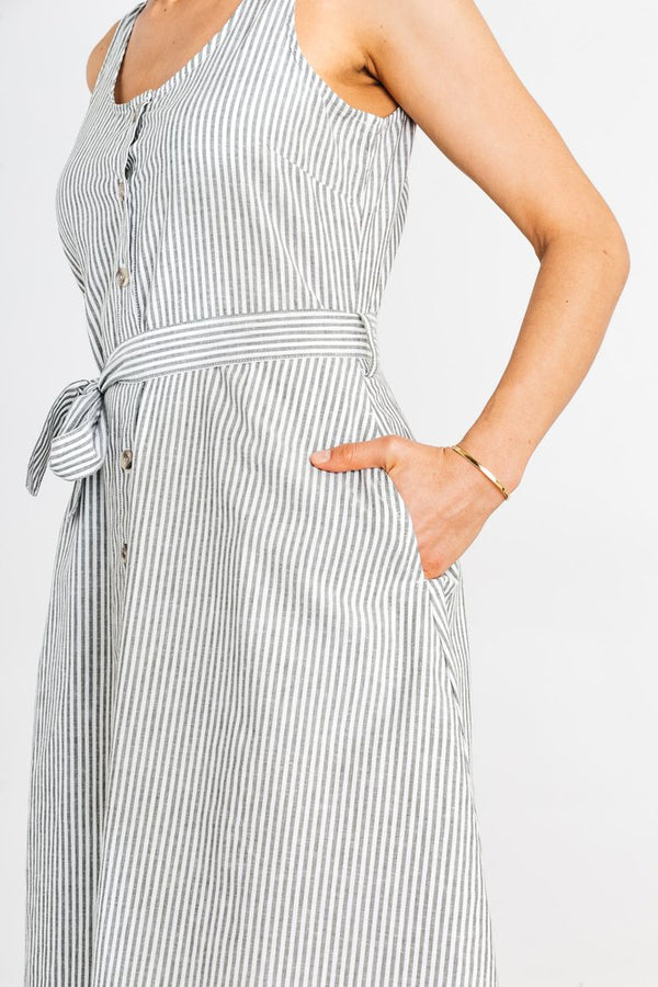 Aletta Olive Bengal Stripe Dress