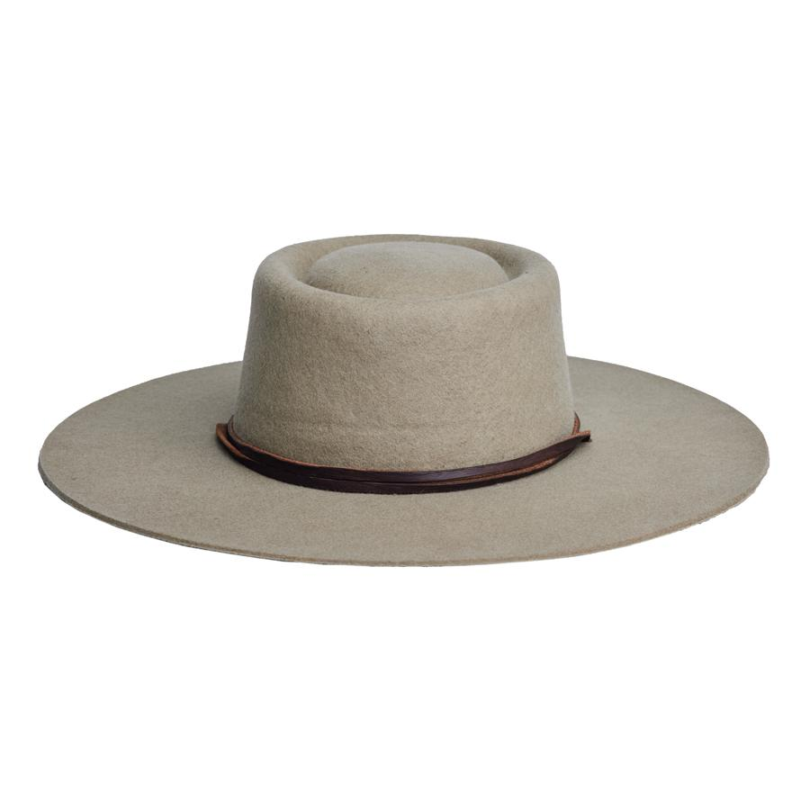 Boater Hat with Leather Strap