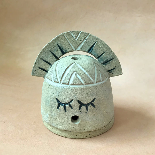 Warrior Woman Hut Incense Burner
