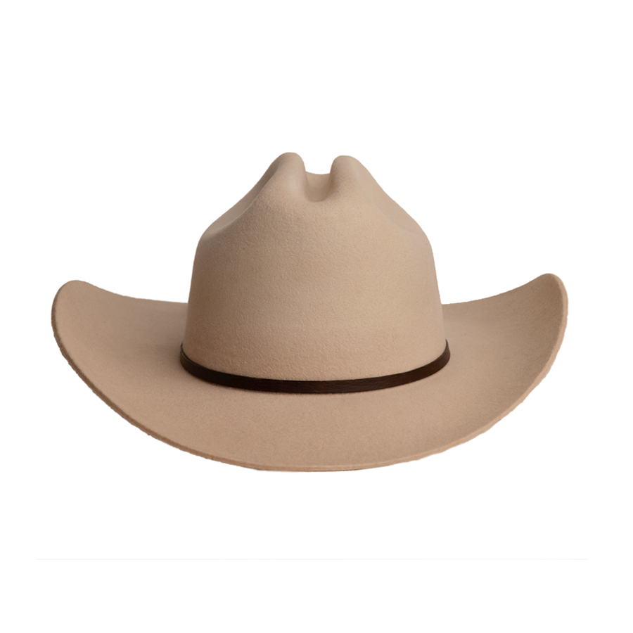 Handmade Wool Cowboy Hat - Taupe