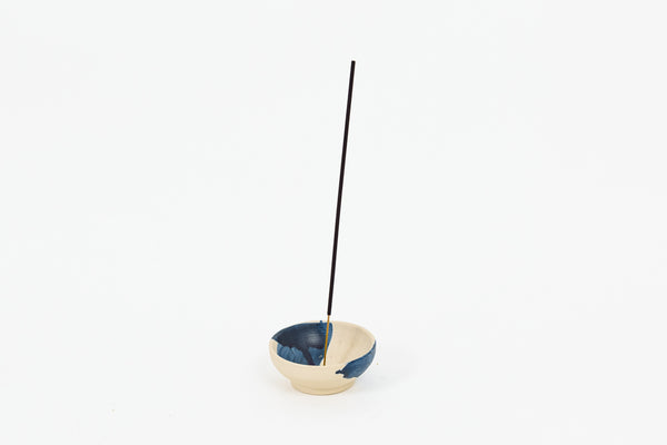 Brushed Blue Incense Burner