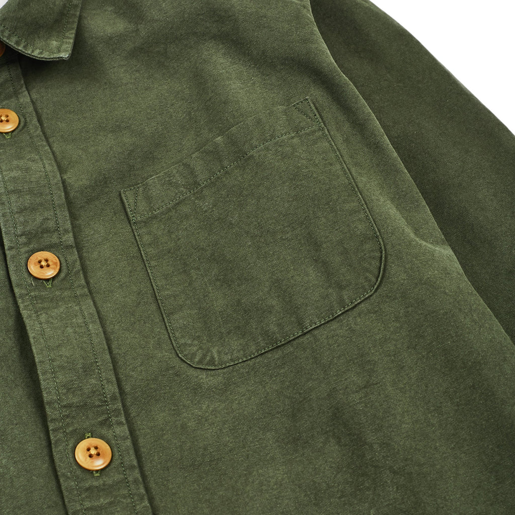 Heavy Canvas Olive Overshirt