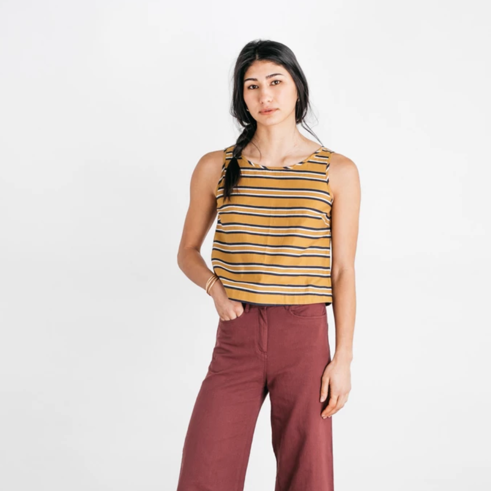 Meridian Gold Stripe Top
