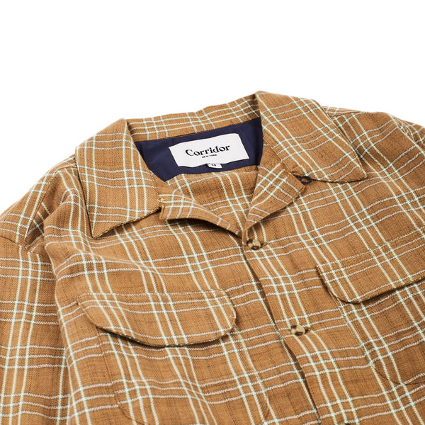 Space Dyed Herringbone Check Work Shirt