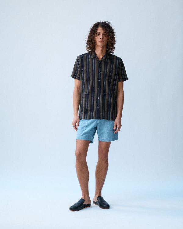 Black Olive Summer Stripe Summer Shirt