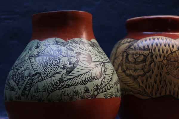 Nativa Wellbeing  Hand Painted Pot