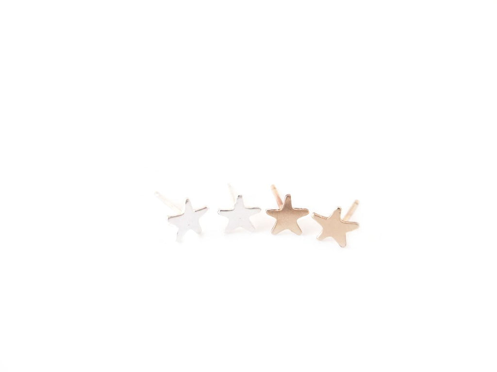 Star Stud Earrings Gold