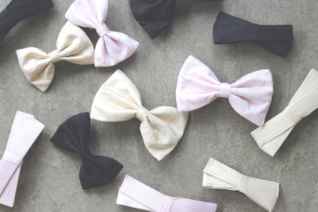 Peace Silk Hair Bows - French Barrettes