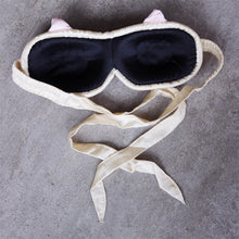 Load image into Gallery viewer, Lucky Cat Contoured Sleep Mask, Peace Silk