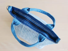 Load image into Gallery viewer, Handwoven cotton bag, indigo blue, fair fashion