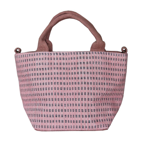 Handwoven cotton bag, pink, fair fashion