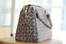 Load image into Gallery viewer, Block print handbag - Handmade - Beige and blue