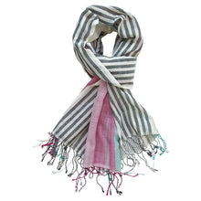Load image into Gallery viewer, Crazy Krama - Handwoven Cotton Scarf - Weavers Project