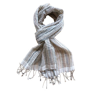 Handwoven cotton scarf, Chimmuwa,, fair fashion