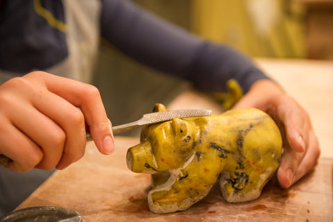 Rain or Cold Day Soapstone Bear Carving Class Whistler Indoor Activity Rainy Day