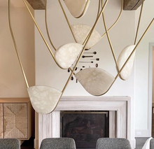 Load image into Gallery viewer, Catenary Lights - Alabaster & Brass
