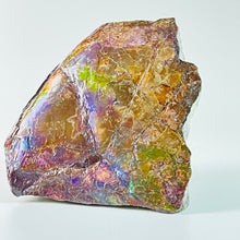 Load image into Gallery viewer, Ammolite Specimen - Rainbow feng shui ammolite display