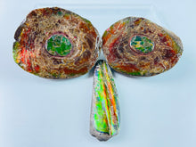 Load image into Gallery viewer, Ammonite Specimen - Swe1crysiusuk - Rainbow