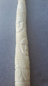 Narwhal Ivory Tusk-Carved