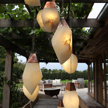 Load image into Gallery viewer, Alabaster Stone Pendant Lighting