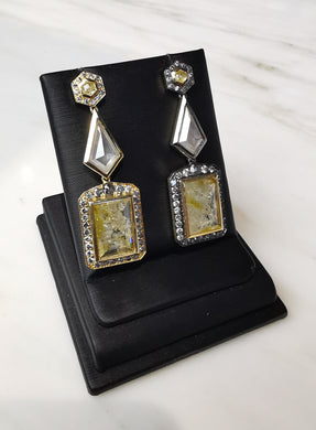 Yellow Diamond Earrings 18K YG