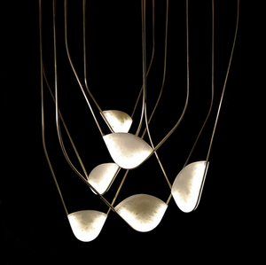 Catenary Lights - Alabaster & Brass