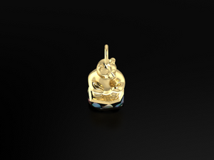 """Harrison"" 14K Yellow Gold & BC Opals Pendant"