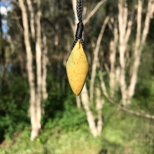 Diamond pendant (New Zealand flower jade)