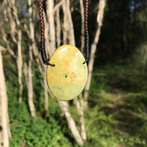 Oval pendant (New Zealand flower jade)