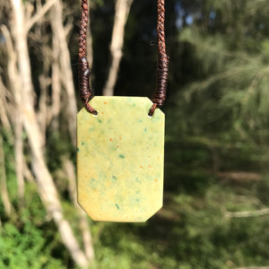 Plaque pendant (New Zealand flower jade)