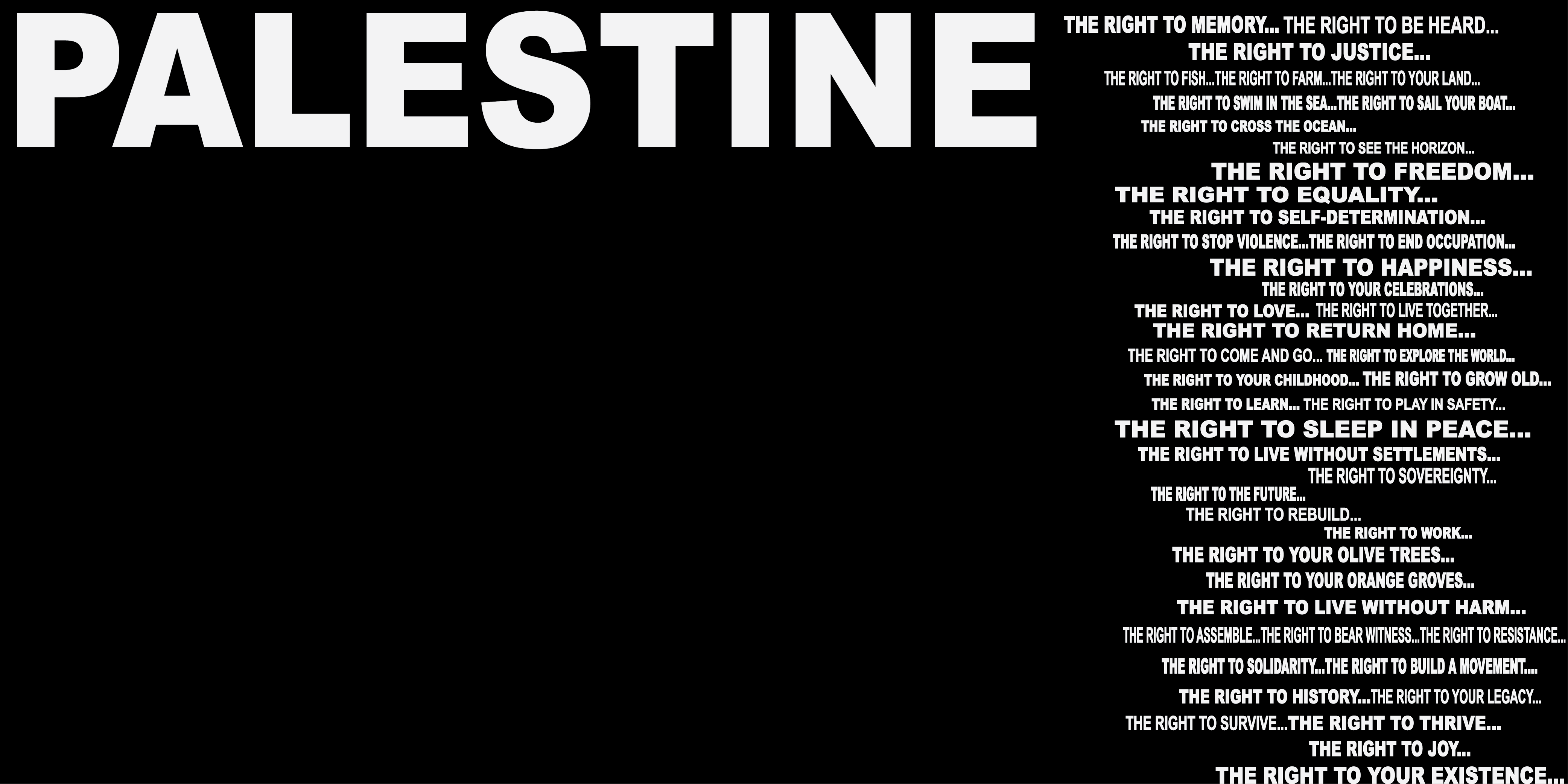 PALESTINE (RIGHTS ON BACK)