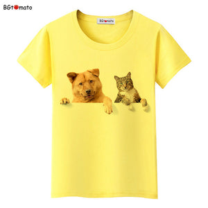 Dog and Cat friends T shirt