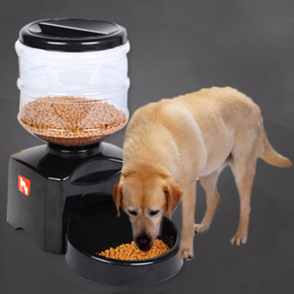 5.5L Automatic Pet Feeder Smart Voice Message LCD Screen