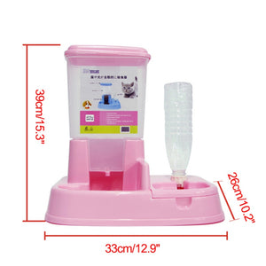 Dual Port Pet Dog Cats Automatic Feeder