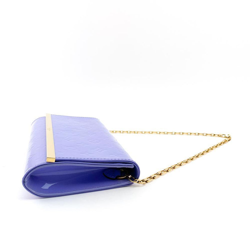 Louis Vuitton Monogram Vernis Ana Clutch Bag Lilac - Luxybit